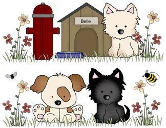PUPPY DOG BABY NURSERY BOY GIRL KIDS WALL STICKER DECAL