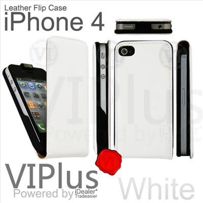 Genuine Leather Flip Case Pouch Skin Cover Holster Apple iPhone 4 4S