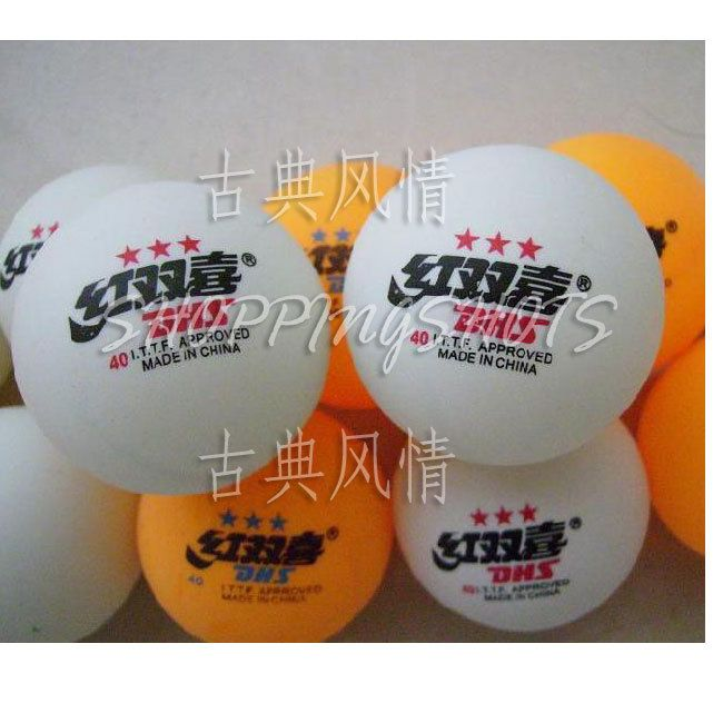 100pcs 3 Stars Ping Pong Table Tennis Balls Double Happiness training