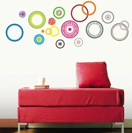 Color Circle Self Adhesive WALL STICKER Removable Decal