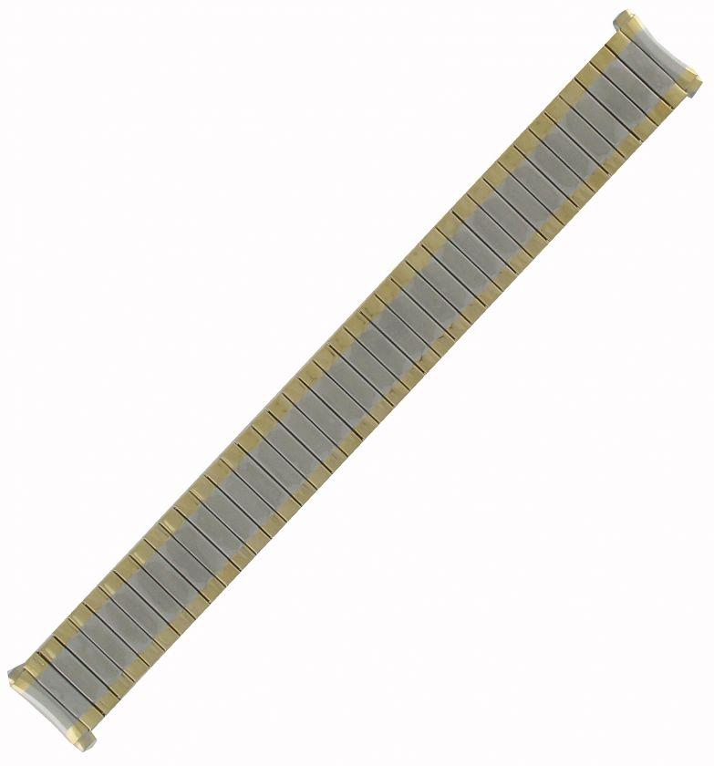 16 21mm Mens Two Tone Gold GP #11 Curved Lug Watch Band Speidel